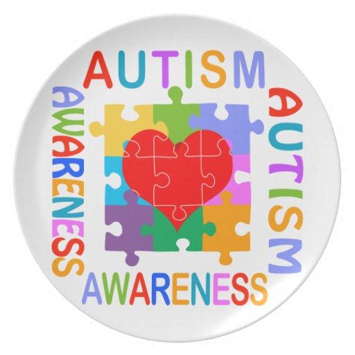 Conciencia del autismo platos de comidas
