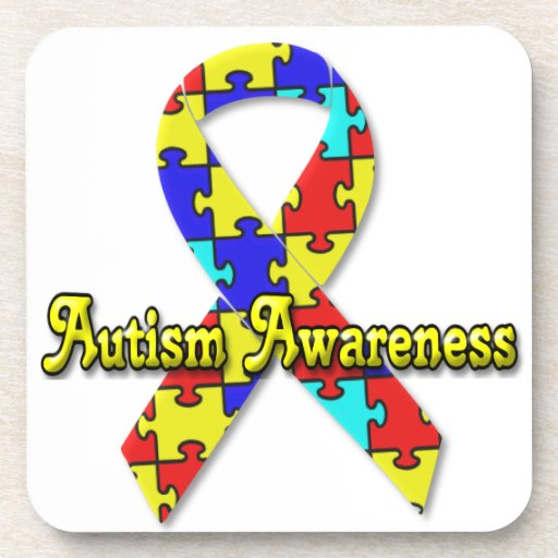 Conciencia del autismo posavasos de bebida