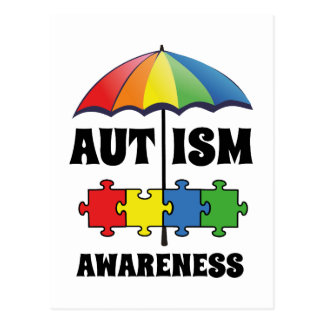 Conciencia del autismo postales