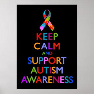 Conciencia del autismo póster