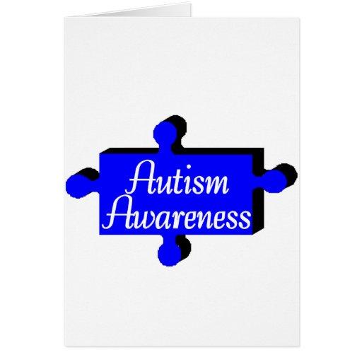 Conciencia del autismo (PP azules) Tarjeta De Felicitación