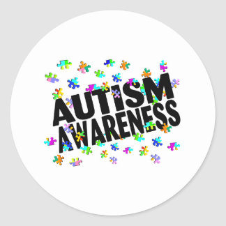 Conciencia del autismo (PP) Pegatina Redonda