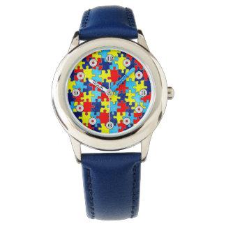 Conciencia del autismo reloj de mano
