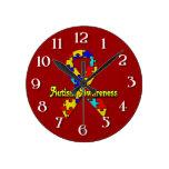Conciencia del autismo reloj de pared