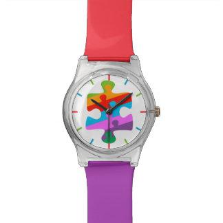 Conciencia del autismo relojes de pulsera