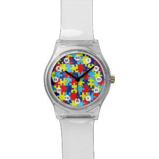 Conciencia del autismo relojes de mano