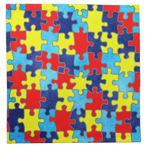 Conciencia del autismo servilleta