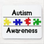 Conciencia del autismo tapete de ratón