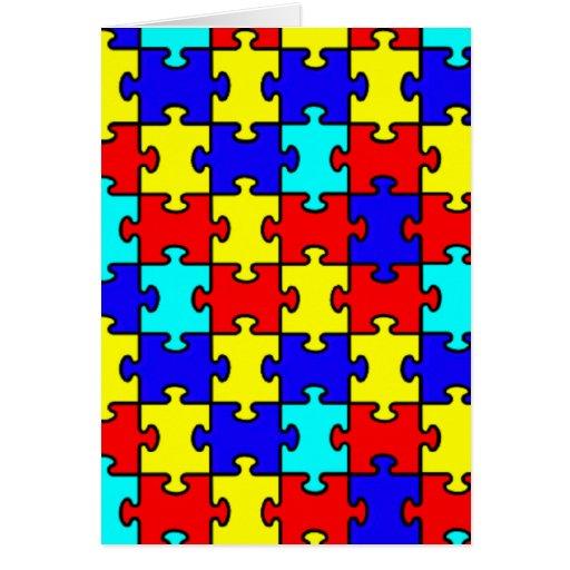 Conciencia del autismo tarjeta