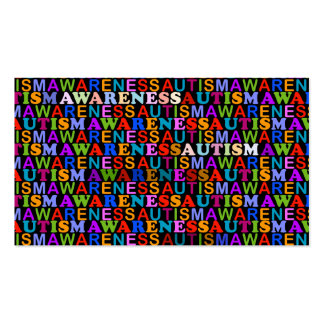Conciencia del autismo plantilla de tarjeta personal