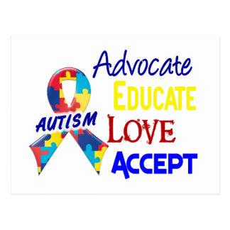 Conciencia del autismo tarjeta postal