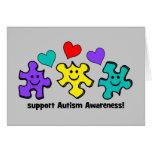 Conciencia del autismo tarjetas
