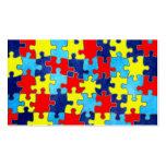 Conciencia del autismo tarjetas de visita