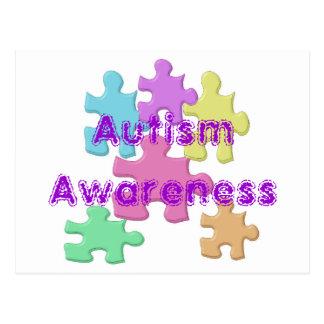 Conciencia del autismo tarjetas postales