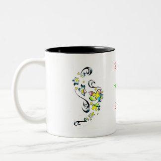 Conciencia del autismo taza de café de dos colores