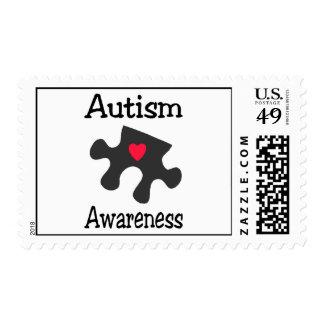 Conciencia del autismo timbre postal