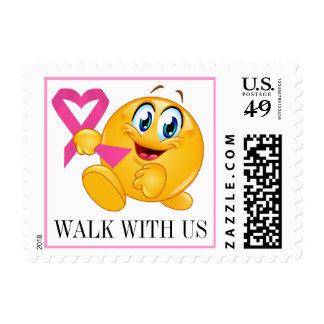 Conciencia del cáncer - camine para la curación - sellos postales