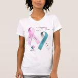 Conciencia del cáncer camisetas