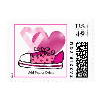Conciencia del cáncer - cinta rosada estampillas