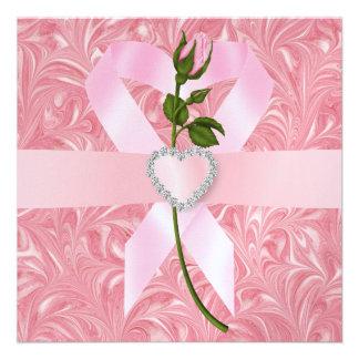 Conciencia del cáncer - cinta rosada anuncio personalizado