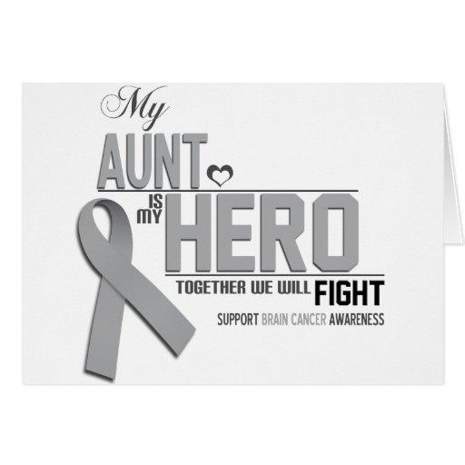 Conciencia del cáncer de cerebro: tía tarjeta de felicitación
