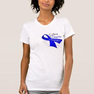 Conciencia del cáncer de colon de la cinta de volu camiseta