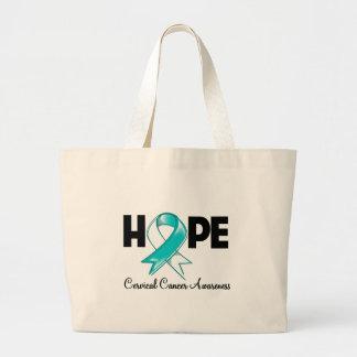 Conciencia del cáncer de cuello del útero de la es bolsa tela grande