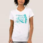 Conciencia del cáncer de cuello del útero que creo camisetas
