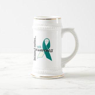 Conciencia del cáncer de cuello del útero tazas