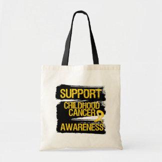 Conciencia del cáncer de la niñez de la ayuda del  bolsas de mano
