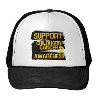 Conciencia del cáncer de la niñez de la ayuda del  gorro