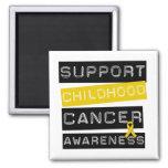 Conciencia del cáncer de la niñez de la ayuda imán de frigorifico