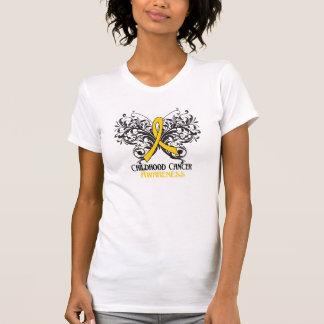 Conciencia del cáncer de la niñez de la mariposa camisetas