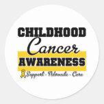Conciencia del cáncer de la niñez etiquetas