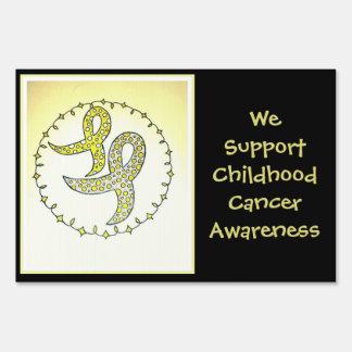 Conciencia del cáncer de la niñez letreros