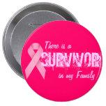 Conciencia del cáncer de pecho - botón del supervi pin