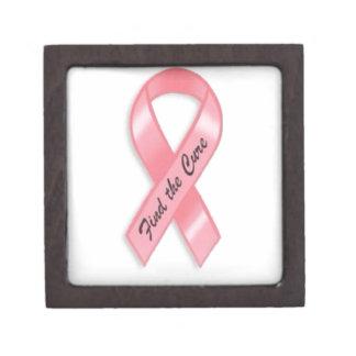 Conciencia del cáncer de pecho caja de recuerdo de calidad