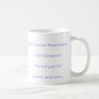 Conciencia del cáncer de pecho - consiga defendido tazas de café