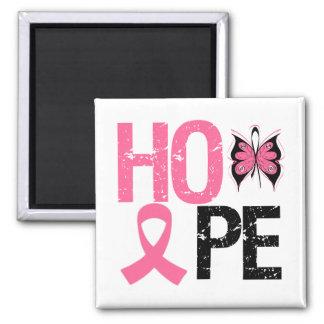 Conciencia del cáncer de pecho de la esperanza imán de frigorifico