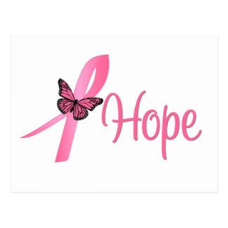 Conciencia del cáncer de pecho de la esperanza postales