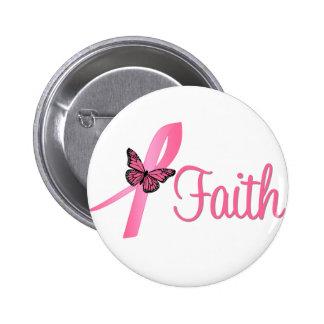 Conciencia del cáncer de pecho de la fe pins