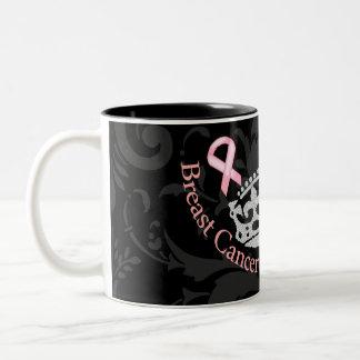 Conciencia del cáncer de pecho de princesa Crown Taza De Dos Tonos