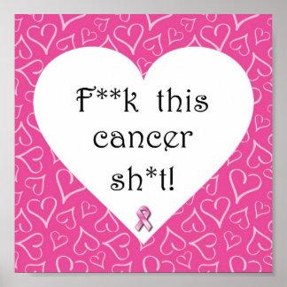 ¡Conciencia del cáncer de pecho - el cáncer es gro Posters