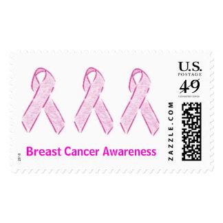Conciencia del cáncer de pecho estampilla