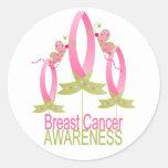 Conciencia del cáncer de pecho etiquetas redondas