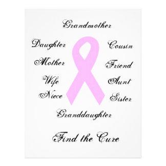 """Conciencia del cáncer de pecho folleto 8.5"""" x 11"""""""