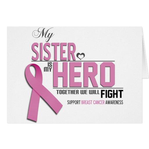 Conciencia del cáncer de pecho: hermana felicitaciones