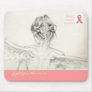 "Conciencia del cáncer de pecho ""lucha para ratón d tapete de ratón"