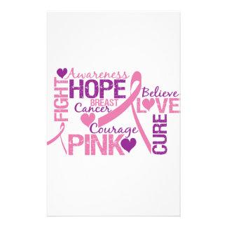 Conciencia del cáncer de pecho papeleria personalizada