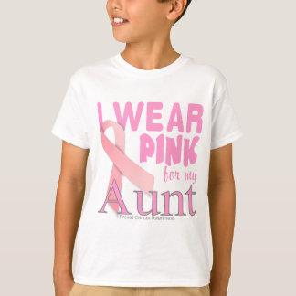 Conciencia del cáncer de pecho para la tía playeras